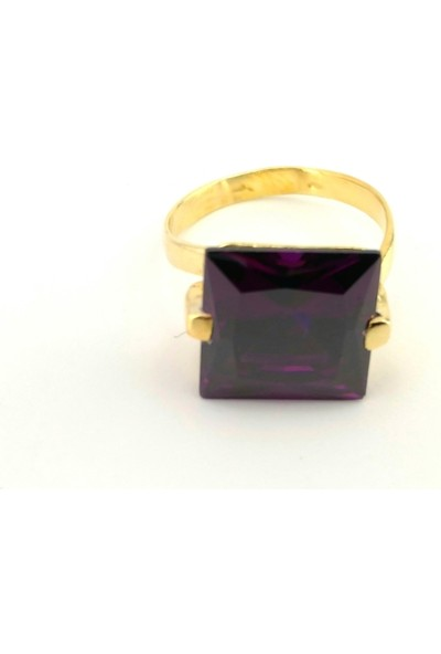 Adorno Özel Tasarım Amethis Rengi Zirkon Taşlı Yüzük Yz06095