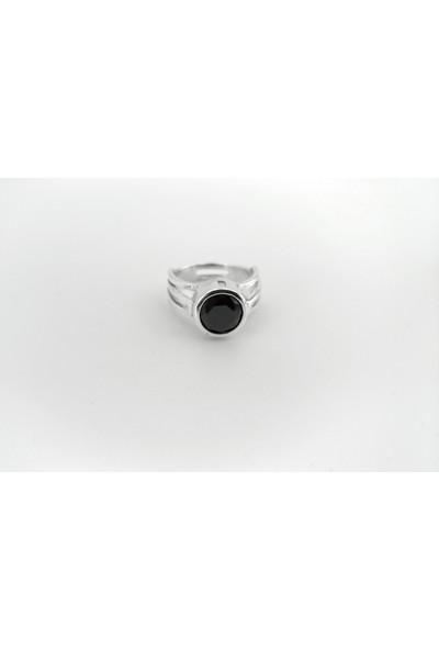 Adorno Özel Tasarım Siyah Zirkon Taşlı Yüzük Yz06081