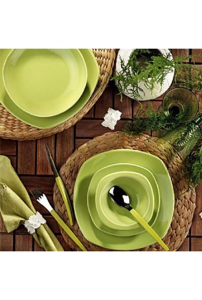 Kütahya Porselen Naturaceram Prizma 24 Parça 6 Kişilik Yeşil Yemek Takımı