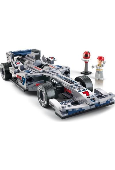 Sluban Formula Gümüş Ok Yarış Arabası 257 Parça