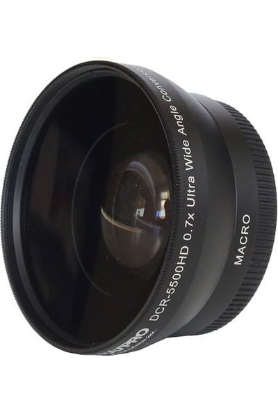 Raypro DCR-5500HD 55mm 0.70x Ultra Geniş Açı + Makro Lens