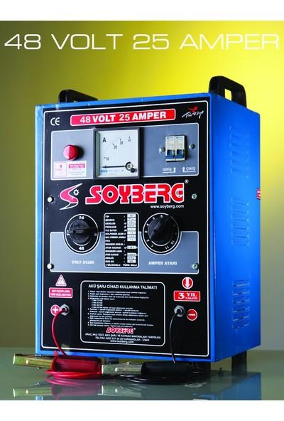 Soyberg 425 Akü Şarj Cihazı 48 Volt 25 Amper