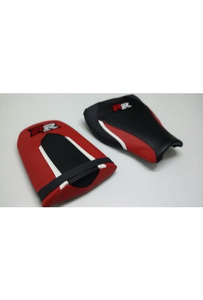 Dot Cycle Honda CBR 600 RR Siyah/Beyaz/Kırmızı/ 2013/2015 Modellere Uyumlu Gerçek Deri Koltuk Kılıfı Takımı