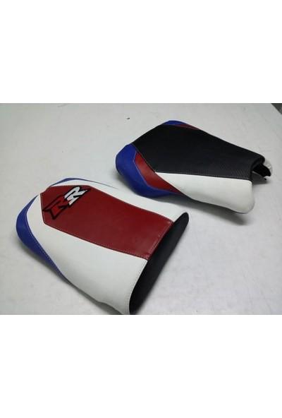 Dot Cycle Honda CBR 1000 RR Siyah/Beyaz/Kırmızı/Mavi 2004/2007 Modellere Uyumlu Gerçek Deri Koltuk Kılıfı Takımı
