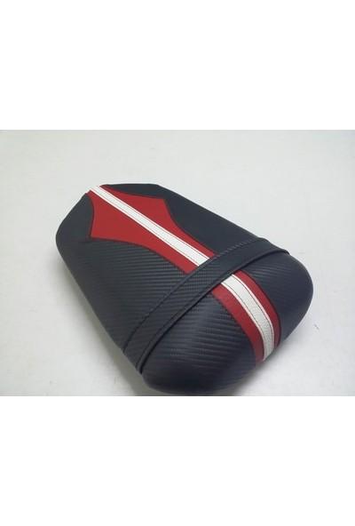 Dot Cycle Yamaha YZF R1 Siyah/Beyaz/Kırmızı 2004/2007 Modellere Uyumlu Gerçek Deri Koltuk Kılıfı Takımı