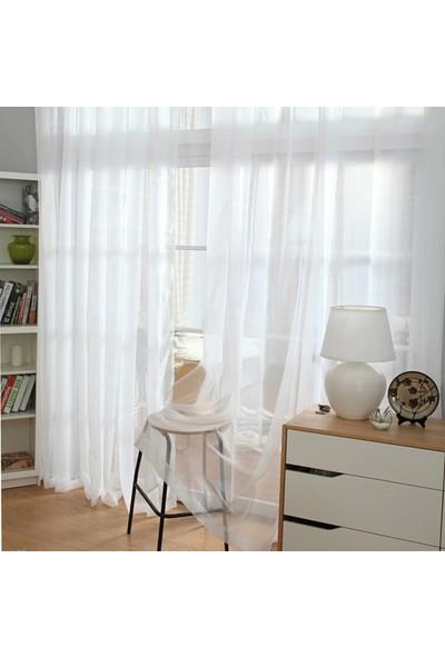 Aisha Home Beyaz Hazır Tül Perde 300X260