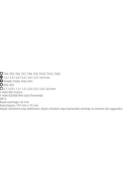 Narex 850110 Mikro Bits (4Mm) Uç Tornavida Seti Ahşap Kutulu