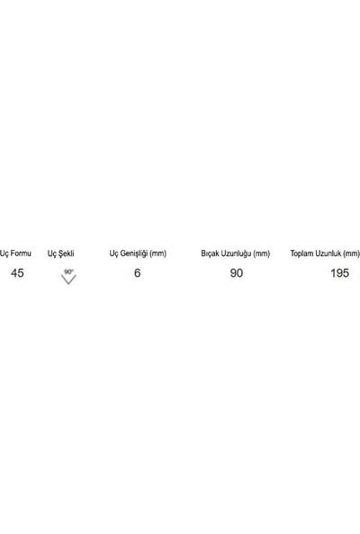 Narex 892706 Wood Line Standart V Ağız (90 °) Oyma Iskarpelası 6X90 Mm