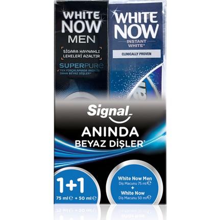 Signal White Now Men 75 Ml + White Now 50 Ml Diş Macunu ile ilgili görsel sonucu