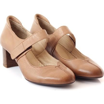 Gön 13256 Siyah Topuklu Kadın Ayakkabı