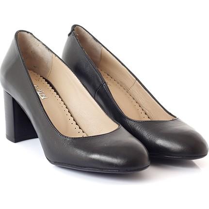 Gön 13265 Siyah Topuklu Kadın Ayakkabı