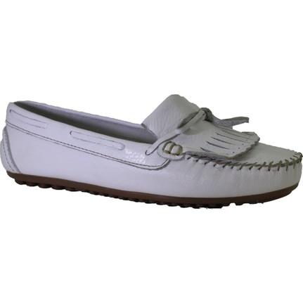 Despina Vandi PNDR H205 Beyaz Kadın Günlük Deri Babet Ayakkabı
