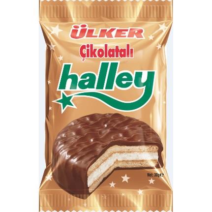 Ülker halley Çikolata kaplı bisküvi 30 gr x 24 adet fiyatı