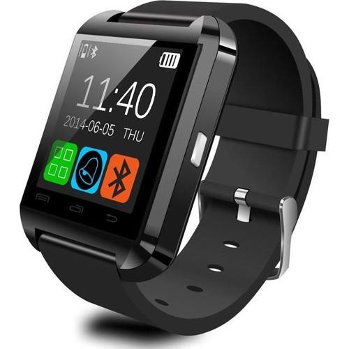 Case 4U U8 Siyah iOS ve Android Uyumlu Akıllı Saat