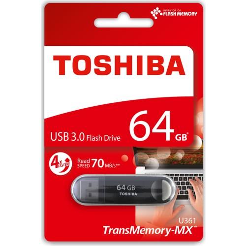 Toshiba 64GB Suzaku USB 3.0 Siyah Okuma:70MB/sn