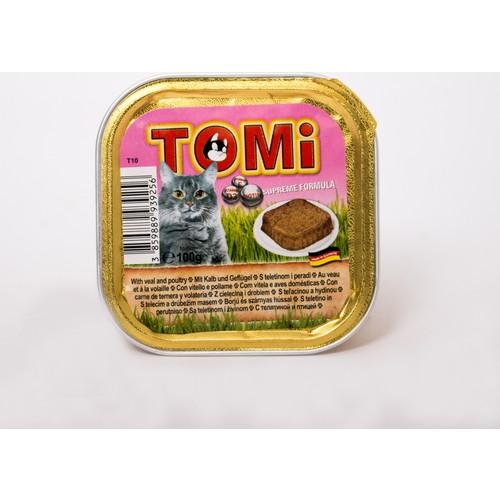 Tomi Alüminyum Paket Dana Etli Ve Kanatlı H. Kedi Konserve 100 Gr