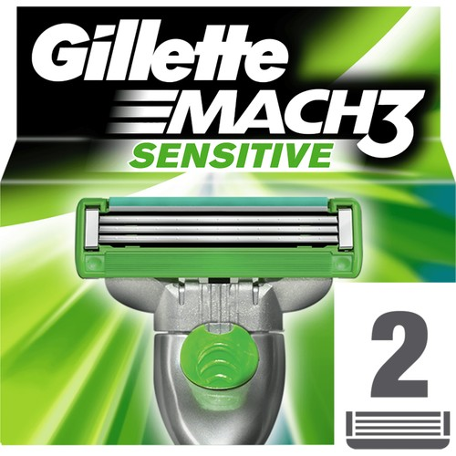 Gillette Mach3 Sensitive Yedek Tıraş Bıçağı 2'li