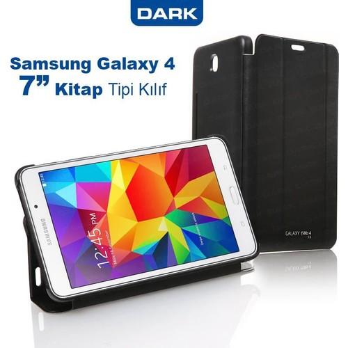 """Dark Samsung Galaxy TAB4 7"""" T230 Akıllı Deri Kılıf Siyah Book Cover -(DK-AC-SMKAS704T4)"""