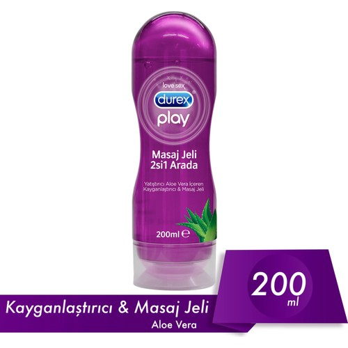 Durex Play Aloe Vera Masaj Jeli ve Kayganlaştırıcı 200 Ml