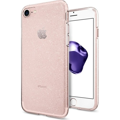 Spigen Apple iPhone SE (2020) / iPhone 8 / iPhone 7 Kılıf Liquid Crystal Glitter Rose Crystal - 042CS21419