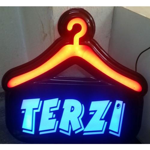 """Projeneon Led Tabela Terzi Tabelası Neon """"Kumandalı 16 Renk"""" 47 x 44 Cm"""