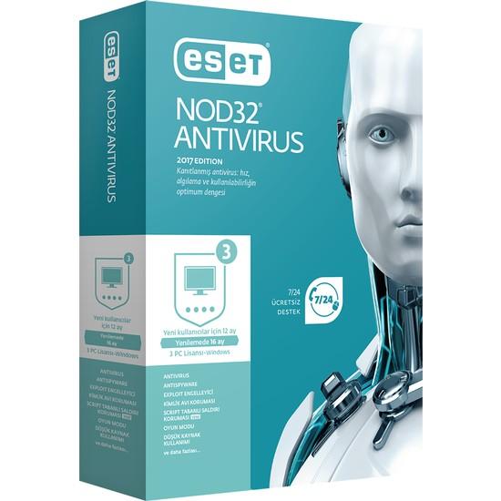 Eset NOD32 Antivirus V11 - 3 Kullanıcı Kutu