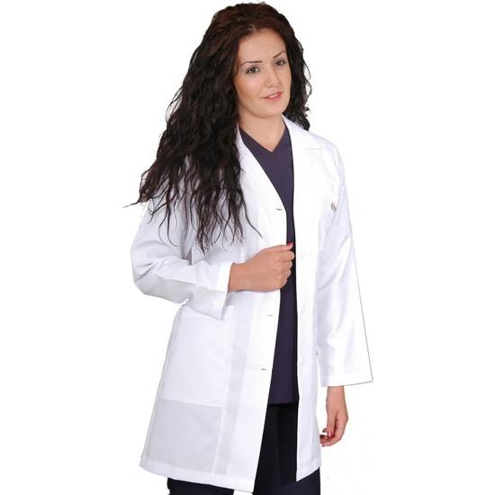 Arel Doktor-Hemşire-Öğretmen Önlüğü Beyaz Önlük Bayan