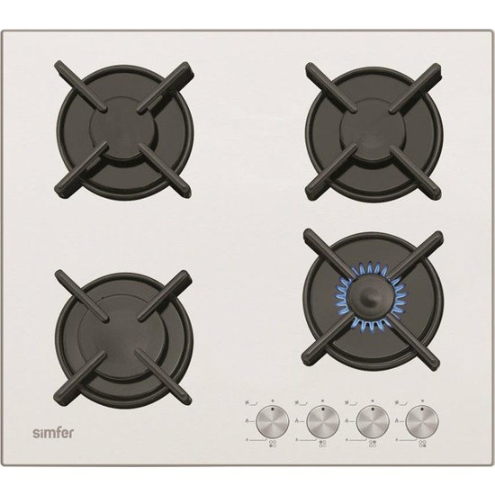 Simfer Cam Set Üstü Beyaz Ocak 3036-Dg