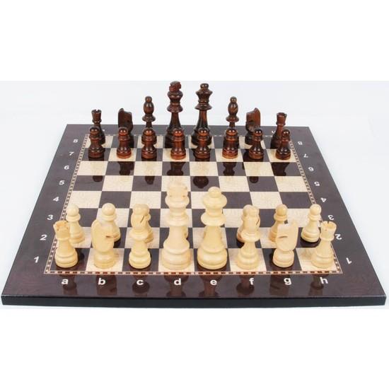 Lüks Satranç Takımı Ahşap Figür (3 Numara)