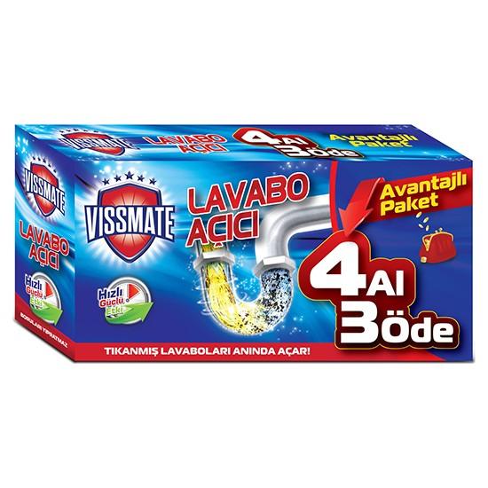 Vıssmate Lavabo Açıcı Kutu 4 Al 3 Öde (4X70 Gr)