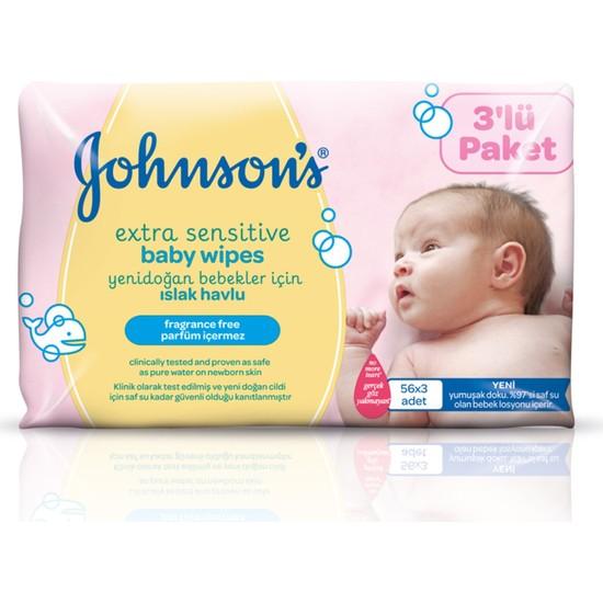 Johnsons Baby Yenidoğan Islak Mendil 168 Yaprak 3'lü Paket
