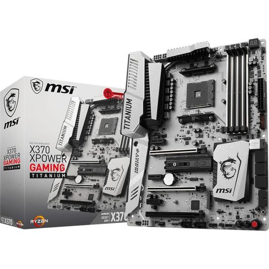 MSI X370 XPOWER Gaming TITANIUM Amd X370 3200+(OC) DDR4 Soket AM4 ATX Anakart
