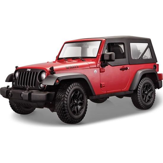Maisto 2014 Jeep Wrangler 1-18 Model Araba S-E Kırmızı