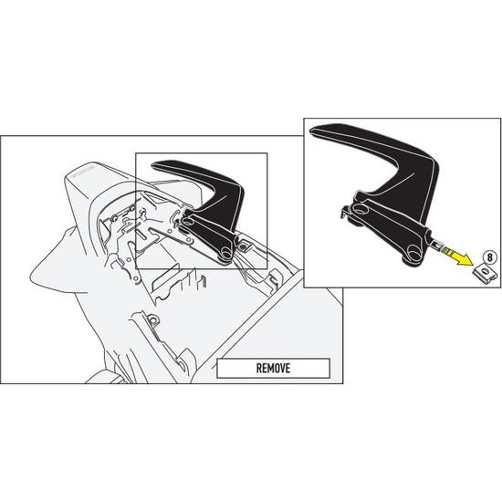Gıvı 1132kıt Honda Vfr 800 F (14-16) Yan Çanta Taşıyıcı Bağlantı Kıtı
