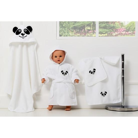 Airycot Bebek Bornoz Seti Panda (5 Parça Bebek Seti)