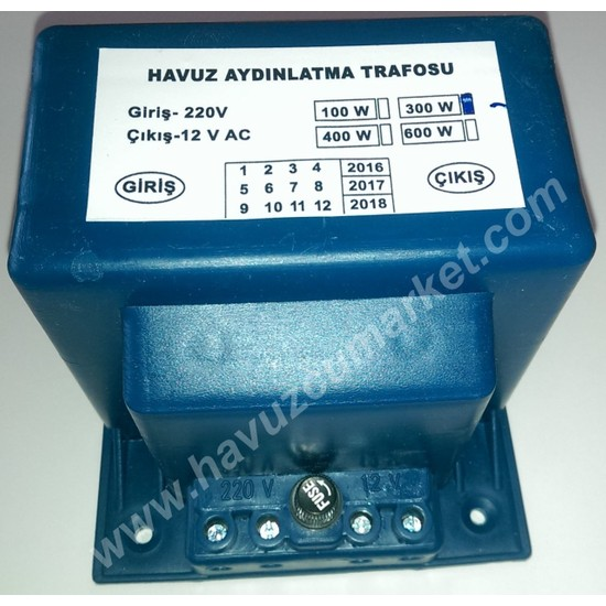 Havuz Trafosu 220/12 Volt 300 Watt