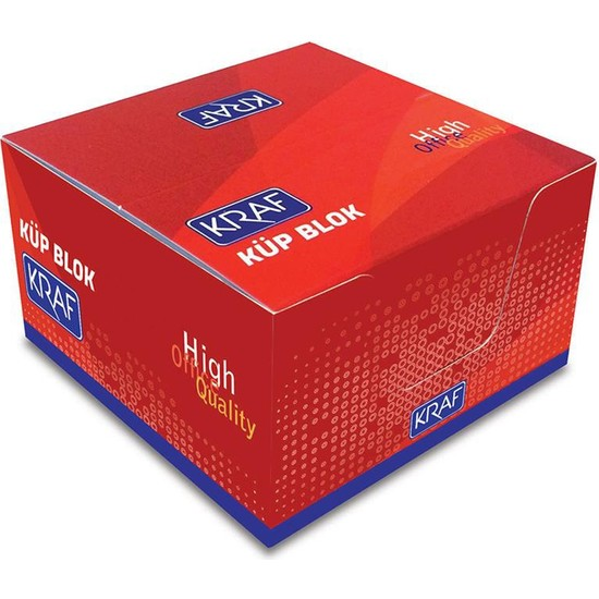 Kraf Küp Blok Beyaz 8X8 Cm 115G