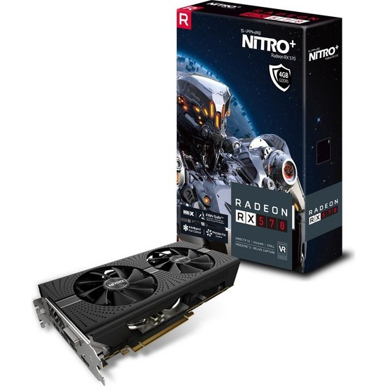 Sapphire Nitro+ Amd Radeon RX 570 4GB 256Bit GDDR5 (DX12) PCI-E 3.0 Ekran Kartı 11266-14-20G