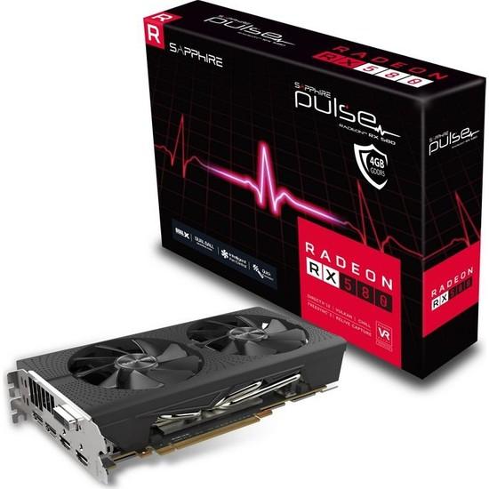Sapphire Pulse Amd Radeon RX 580 4G OC 256 Bit GDDR5 (DX12) PCI-E 3.0 Ekran Kartı 11265-09-20G