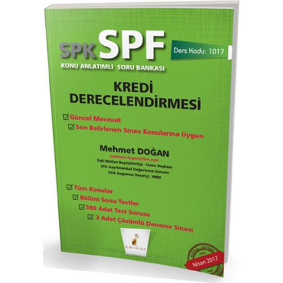 Spk - Spf Kredi Derecelendirmesi Konu Anlatımlı Soru Bankası 1017