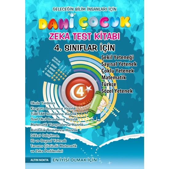 Altın Nokta 4. Sınıf Dahi Çocuk Kanguru Olimpiyat Zeka Kitabı
