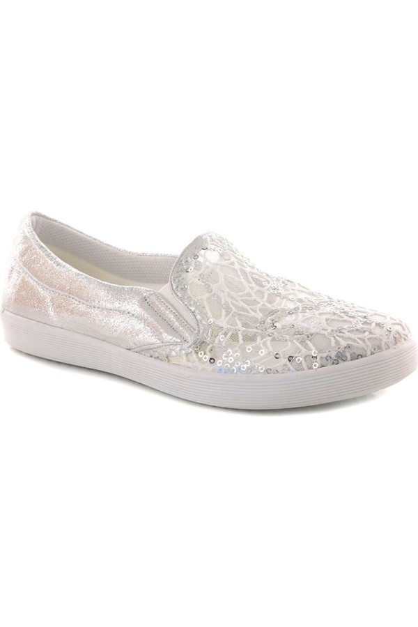 Lady Silver Lurex Sequin Low Sports Babette
