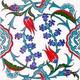 Armada Çini 20X20 Cm Ac 5 Kütahya Cami Çinisi İznik Desenli Seramik Çini Karo