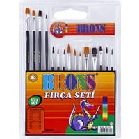 Brons 15 'li Resim Fırçası Seti Br-249