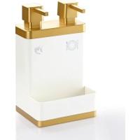 Azra Akrilik 2'li Mutfak Sıvı Sabunluk Beyaz Gold