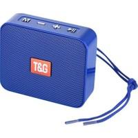 Case 4U Go 2 Taşınabilir Bluetooth Hoparlör TG-166 - Hafıza Kartı - USB Bellek Girişli Ses Bombası Mavi