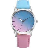 GOB2C Kadın Çift Renk Kol Saati Mavi