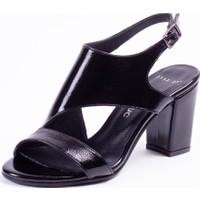 Tarçın Deri Siyah Kırışık Rugan Klasik Günlük Kadın Topuklu Ayakkabı Trc71-0117