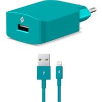 Ttec Speedcharger Seyahat 2.1A iPhone Hızlı Şarj Aleti Turkuaz