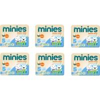 Minies 5 Numara Bebek Bezi 6 x 32 - 192 - Adet 6'lı Paket